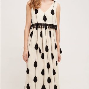 Anthropologie embroidered Medallion Maxi Dress